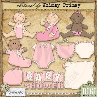 Free Baby Shower Clip Art For Girls