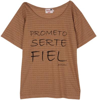camiseta prometo serte fiel. Camisetas con frases de Dolores Promesas