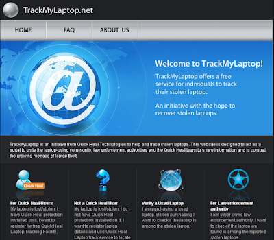 Trackmylaptop will trace your stolen laptop freely all over India