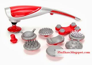Máy massage cầm tay 7 đầu,máy massage cầm tay 10 đầu chính hãng 1