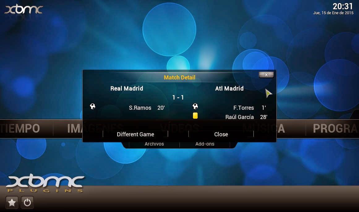 BBC Live Football Scores XBMC KODI