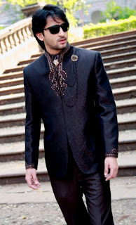 Shaheer Sheikh in black