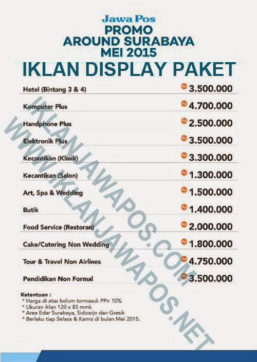 Promo Iklan Jawa Pos Paket Display Mei 2015