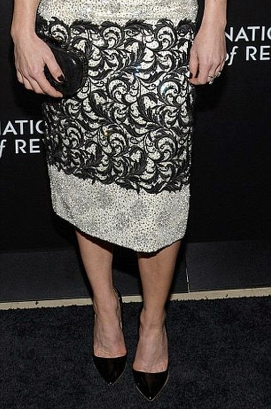 Looking gorgeous in a dark long dress, Carla Gugino was the epitome elegance as she made an appearance at New York, NY, USA on Tuesday, January 6, 2015.