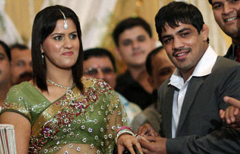 Savi Solank (Wife of wrestler Sushil Kumar )