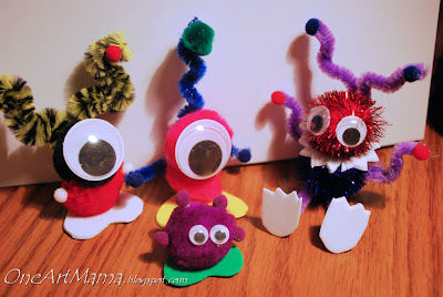 halloween crafts for kids: monster
