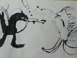 Sådan tegner du seje drager med ungerne.