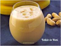 desayuno: Batido de mani y bananas