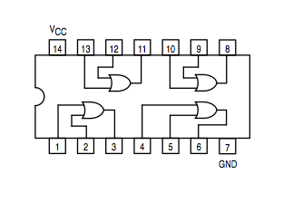 7402 Nor Gate Diagram likewise Index2 likewise Ci Tll Triple  puerta And De 3 Entradas 74ls11p in addition 2008 November 25 also Integrated Circuit 74ls03. on 74ls00 nand gate diagram