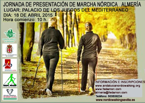 JORNADA DE PRESENTACIÓN DE MARCHA NÓRDICA ALMERÍA