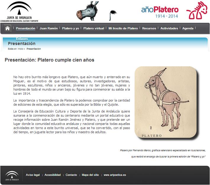 http://portal.ced.junta-andalucia.es/educacion/webportal/web/centenario-platero/presentacion;jsessionid=CB9999F9E4379C085FB05060B8495A61.portalweb1