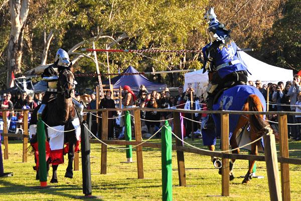 Winterfest jousting