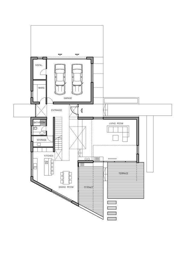 Hogares frescos imponente residencia contempor nea for T shaped home plans