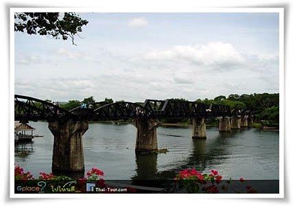 สถานที่ท่องเที่ยวใกล้เคียง ( สะพานข้ามเเม่น้ำเเคว )