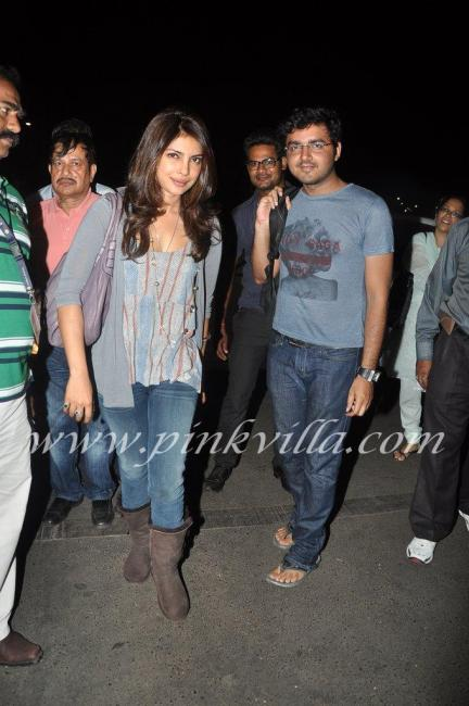 Priyanka  - (2) -  Priyanka Chopra Airport pic- leaving for brothers graduation