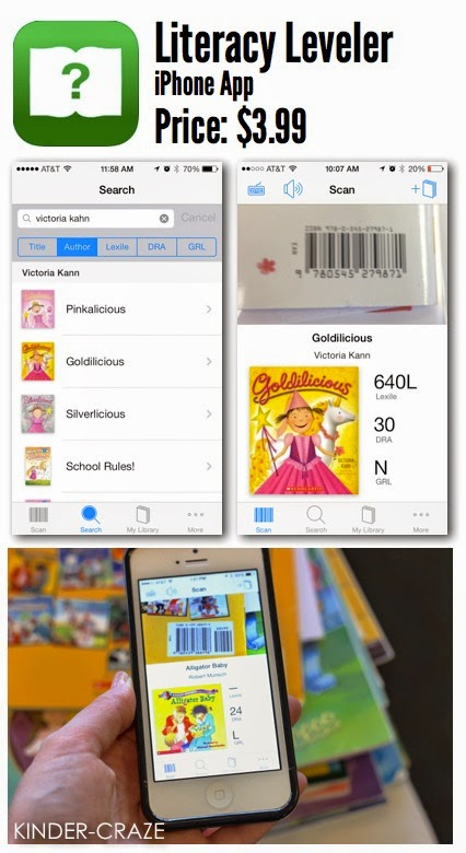 Literacy Leveler iPhone app to level your classroom library books
