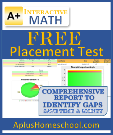Aplus Interactive Math - free placement test