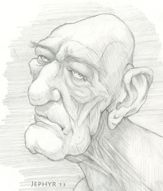 Skectchbook Drawing, Copyright 2013, Jephyr, All Rights Reserved