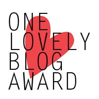 nomination for one lovely blog award