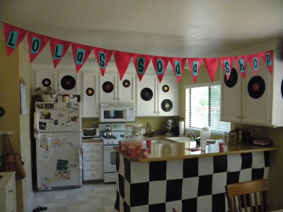 Sock hop fifties birthday party everyday parties for 1950s party decoration ideas