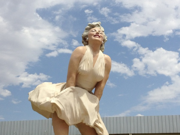 Giant Forever Marilyn statue Downtown Palm Springs