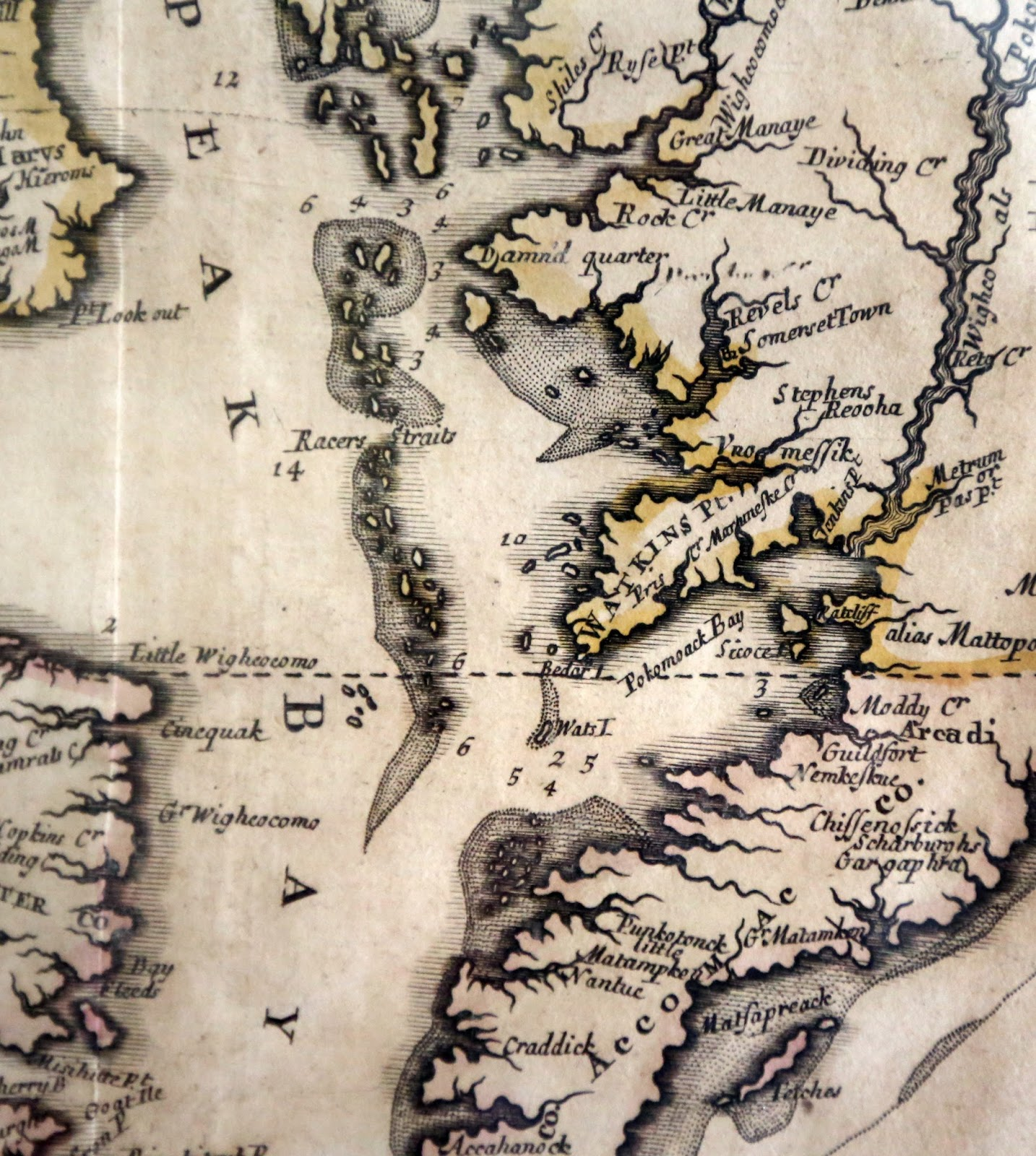 i never knew until i came across a reproduction of a 1719 map in a portsmouth museum that i had sailed near damn d quarter it seems that when i sailed