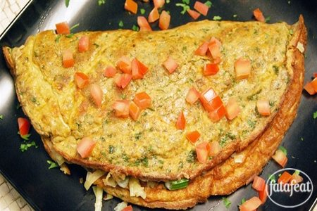 Middle Eastern omelet with herbs