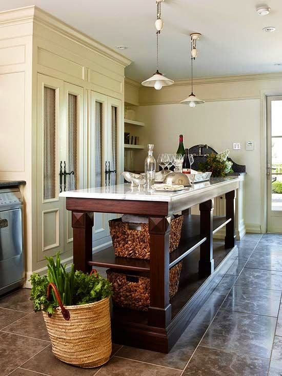 las 19 islas de cocina vintage que te encantar 237 a tener en kitchen islands that look like antique furniture home