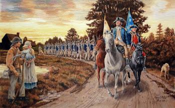 Rochambeau, La Fayette , Washington et la Franc-Maçonnerie dans la guerre d'indépendance des USA.