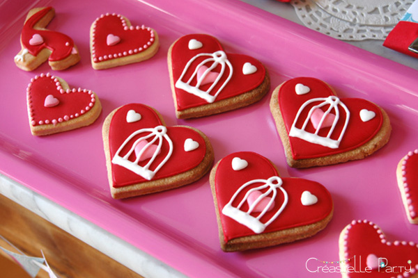 Valentine's day sweet table Saint-Valentin - Love Birds - cookies