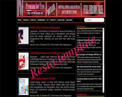 Hitz seo blogger template
