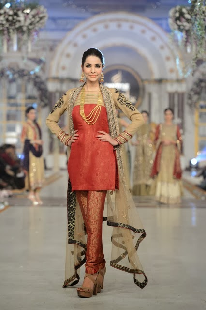 Asifa Nabeel - Pakistani Bridal Fashion at Pantene Bridal Couture Week 2013 PBCW Lahore