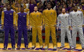 NBA 2K13 Los Angeles Lakers Warmup Uniforms