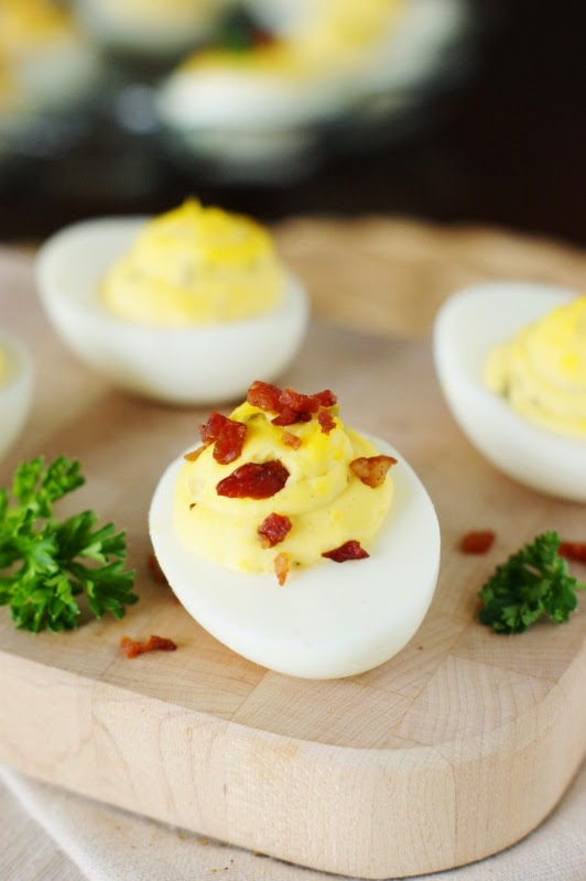 Deviled Egg Garnishes ~ Bacon Crumbles