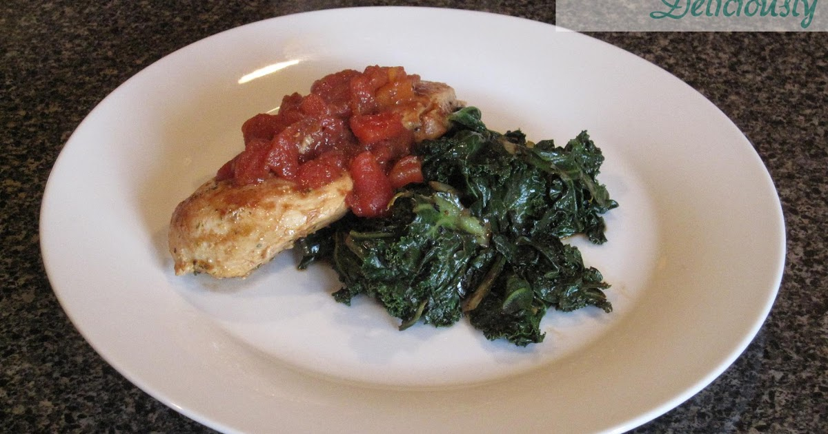 Eating Deliciously: Balsamic Chicken with Swiss Chard and Kale