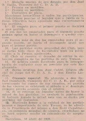 Reglamento del Torneo de Ajedrez de Altura José O. Badía (2)