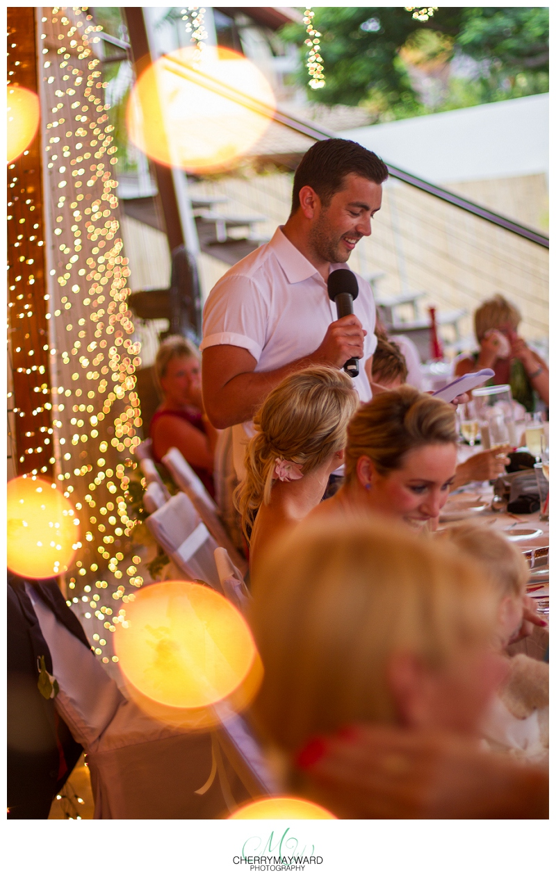 Grooms speeches, Beach republic wedding, Koh Samui