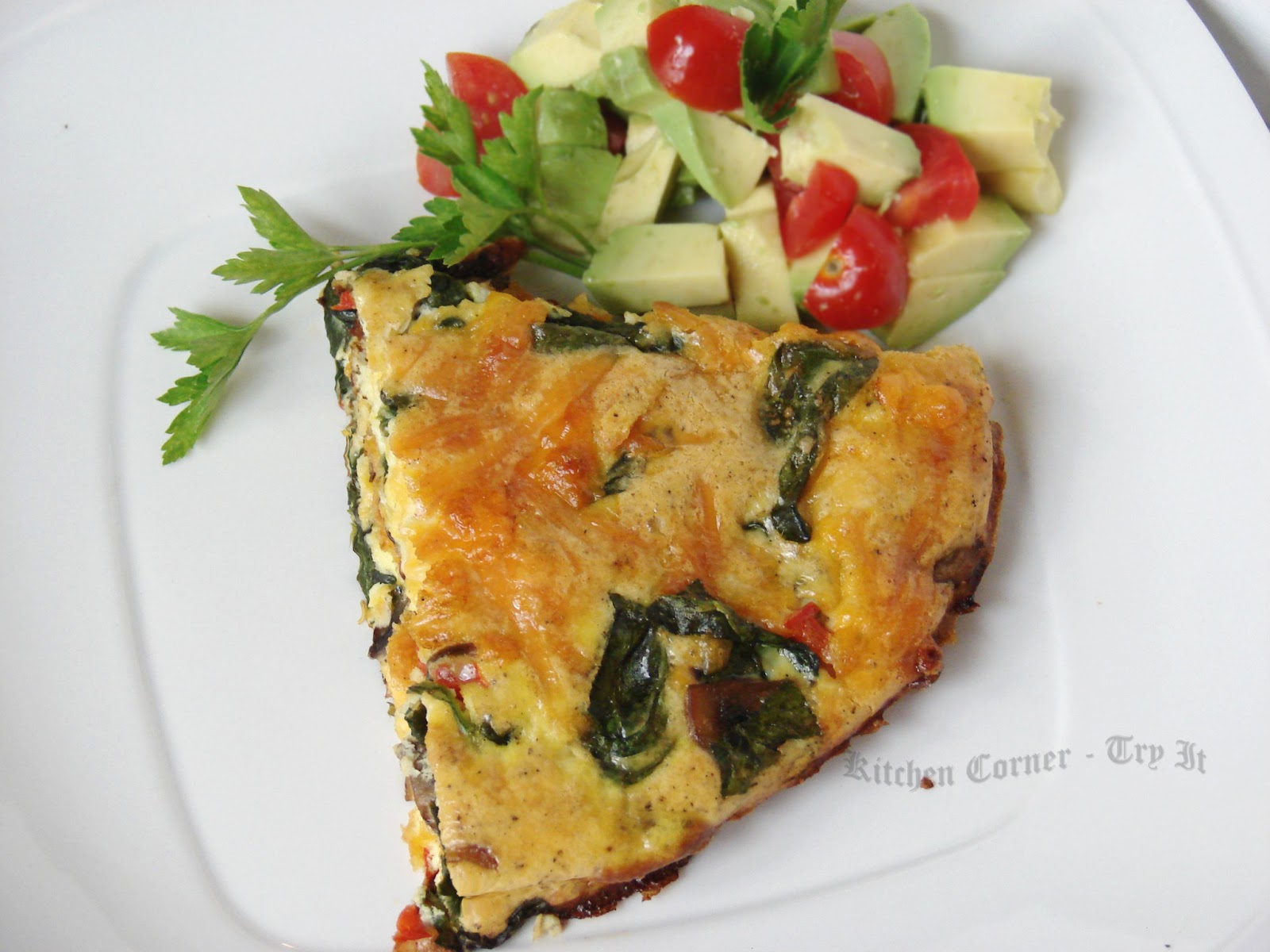 Kitchen Corner-Try It: Spinach Mushroom Frittata