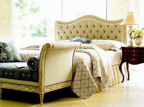 elegant settee design for elegant bedroom