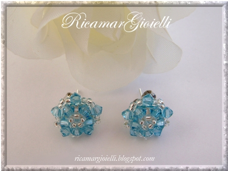 Earrings Ornate Beaded Bead (bicones 3 mm)