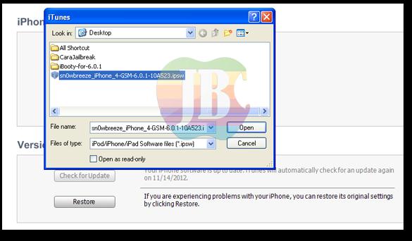 Cara Jailbreak iPhone 4/3GS dan iPod Touch 4G iOS 6.0 - 6.0.1 dengan
