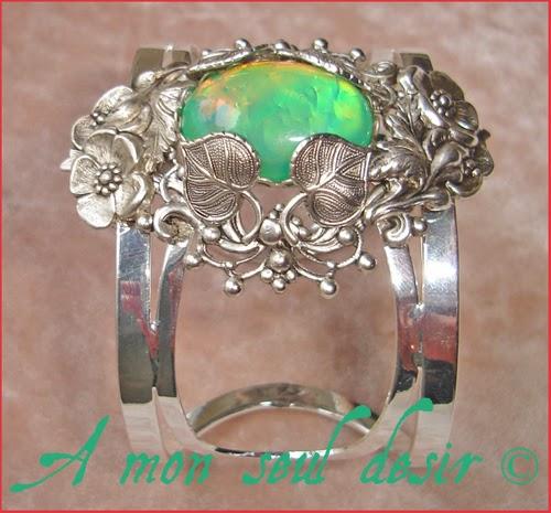 Bracelet elfique féerique végétal floral vegetal elven fairy elf jewel