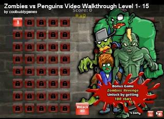 Zombies vs Penguins walkthrough | video