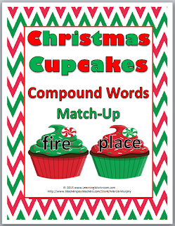 http://www.teacherspayteachers.com/Product/Christmas-Cupcakes-Compound-Words-Matching-Activity-917798