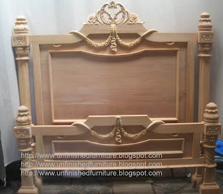 Raw natural furniture wooden frame italia bed