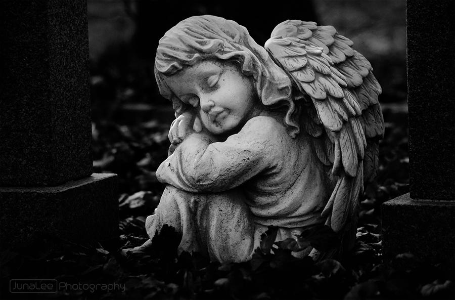 Fotografie schwarzweiß Engel