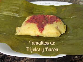 receta facil tamales de frijoles y bacon