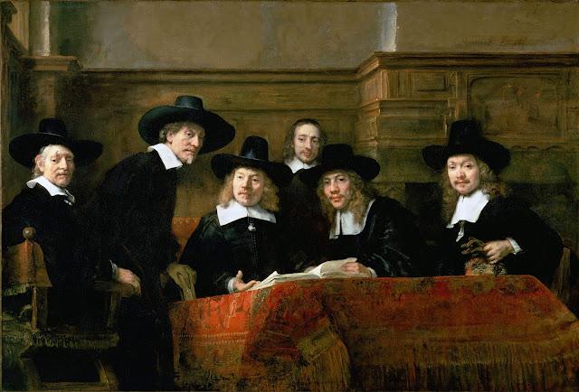 Les syndics des drapiers de Rembrandt, 1662