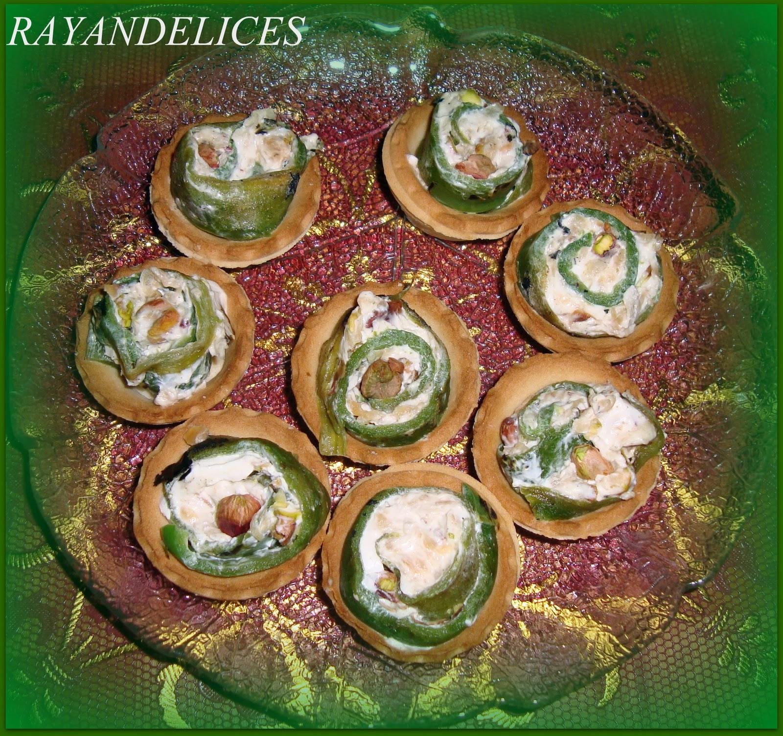 rayan delices  mini tartelettes au poivron