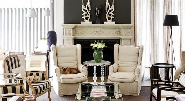 ambiente clásico decorado en gris